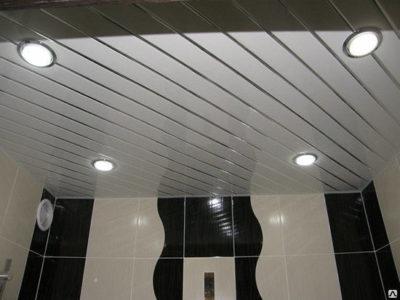 подшивной реечный потолок в ванной