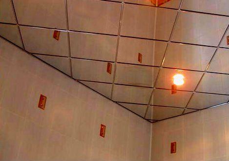 потолочная плитка в ванной