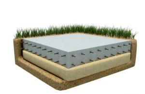 Плиточный фундамент для частного дома